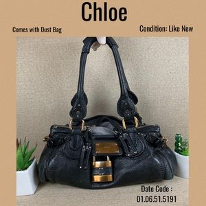 Chloe Shoulder bag paddington handbag black leathe